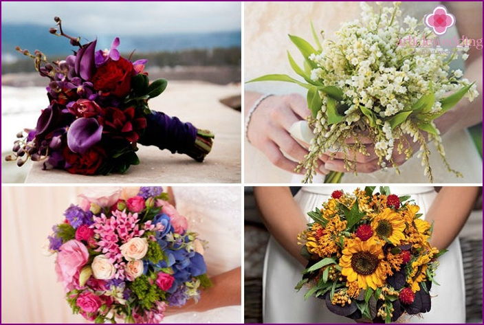 Bridal bouquets for different seasons