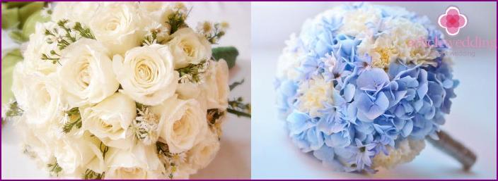 Ball-shaped wedding flowers