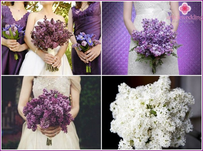 Lilac mono-bouquet for a wedding