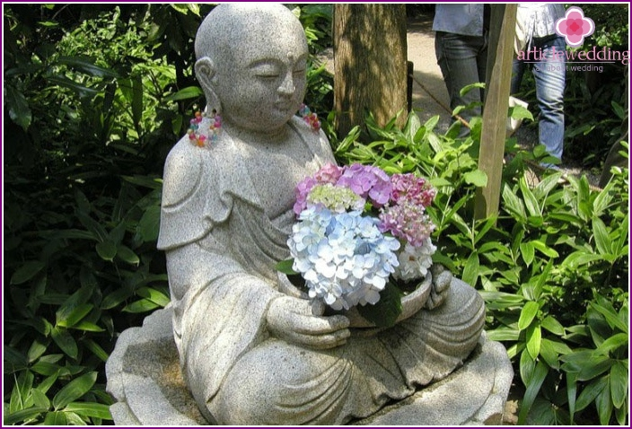 Buddha statue at the audzisai-de temple
