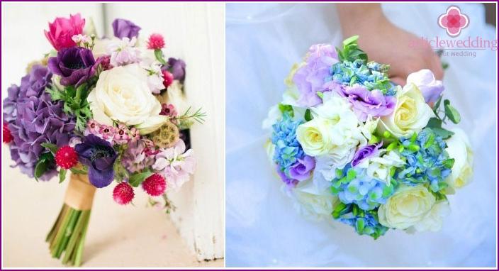 Bright multi-colored accessory for a wedding