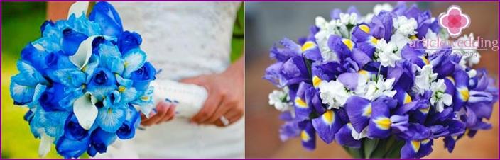 Wunderschöne Blumen für einen Hochzeitsstrauß