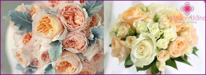 Formen von Hochzeitssträußen für die Braut