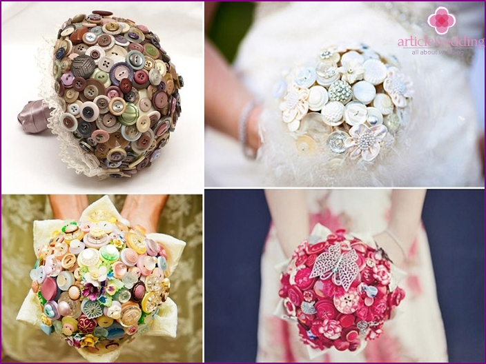 Original bouquets for creative brides