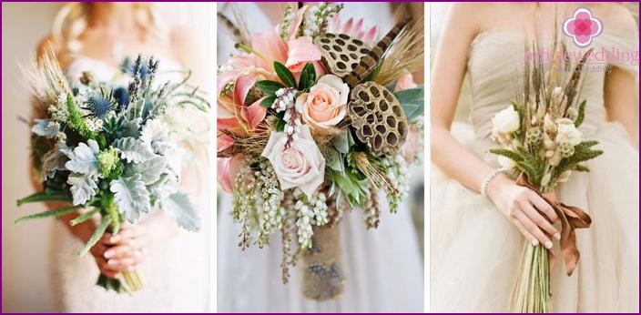 Spikelet wedding bouquets
