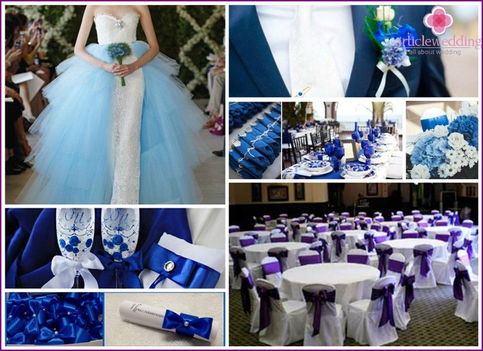 General wedding concept with blue color