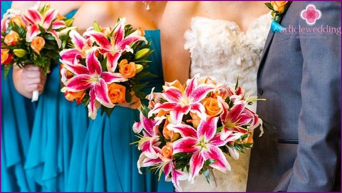Fabric Lilies