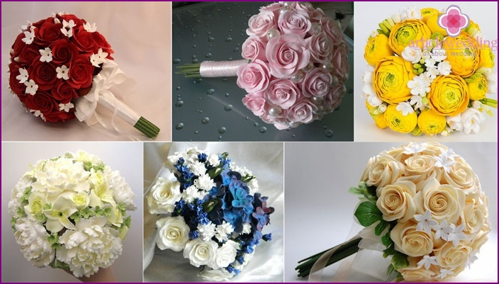 Wedding bouquet made of polymer clay