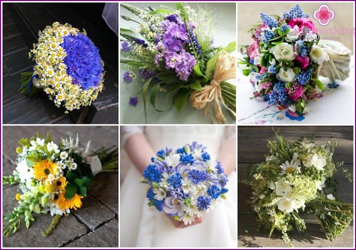 Wildblumen für Hochzeitssommersträuße
