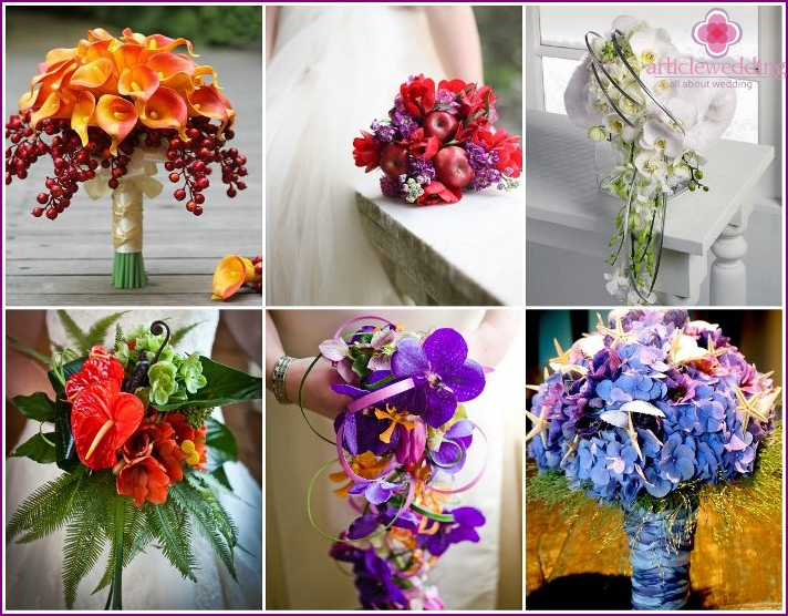 Author's exclusive wedding bouquets