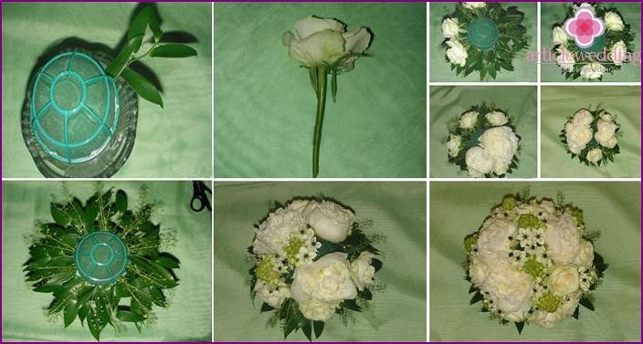 Bridal bouquet at portbuketnitsa: master class