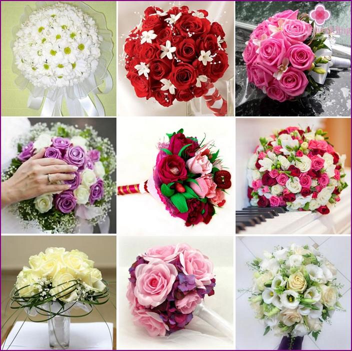 Wedding bouquets on a portbuketnitsa