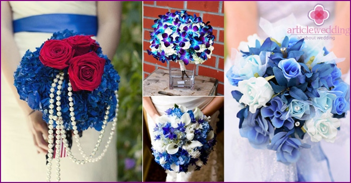 Blue flowers for the bride