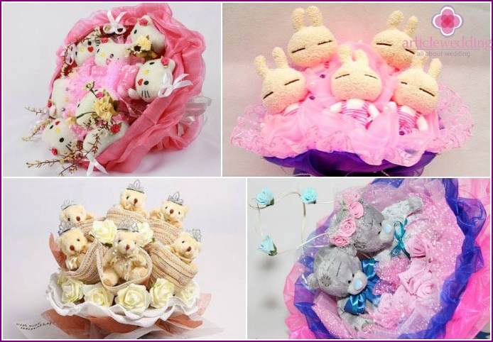 DIY wedding bouquets of toys