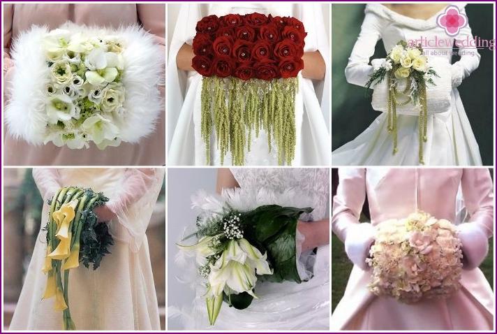 Original flower bridal clutch