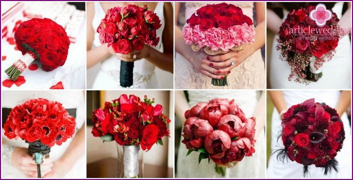 Options for a pink wedding bouquet