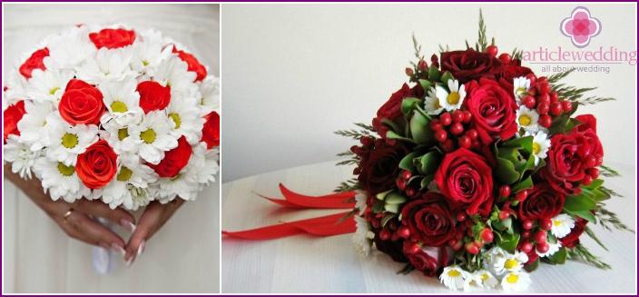 Gänseblümchen - Teil eines Hochzeitsaccessoires