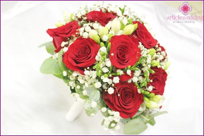 Gypsophila - decoration of any wedding bouquet