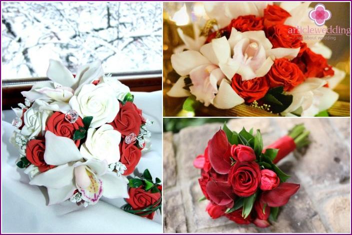 Hochzeitssträuße mit Orchideen und Callas