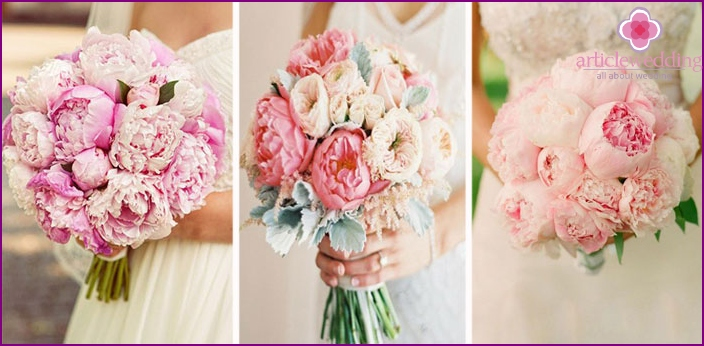 Gentle peonies for the bride and groom