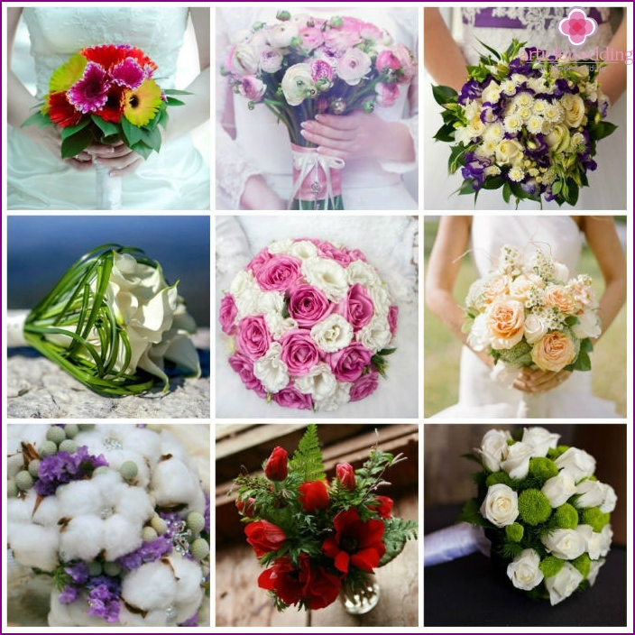 Types of flower arrangements for a wedding