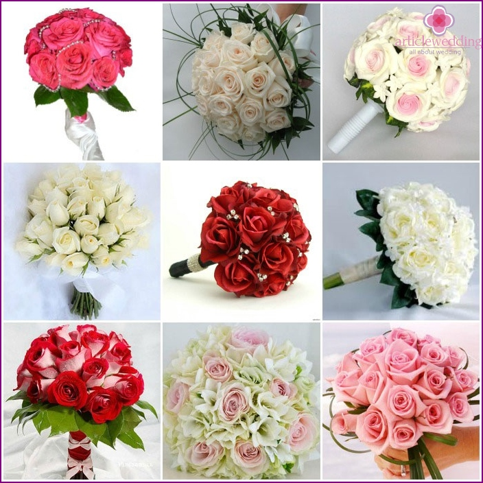 Wedding bouquets: roses