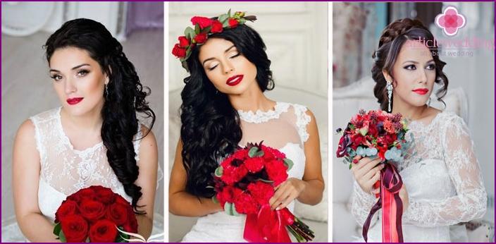 Braunäugige Braut