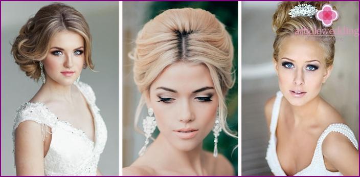 Jungvermählten mit blonden Haaren.