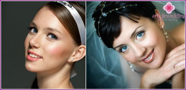 Wedding make-up for blue eyes
