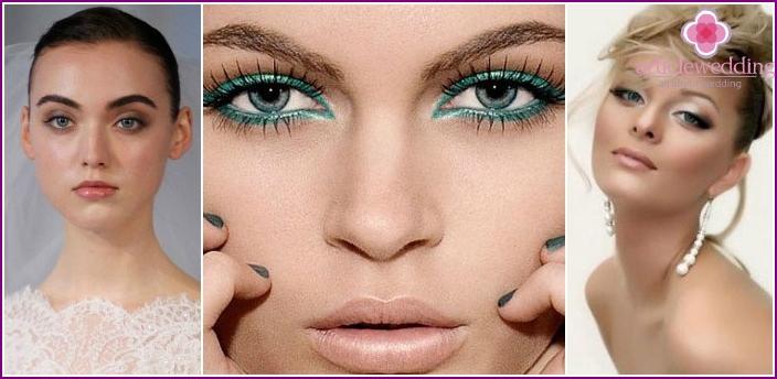 Hochzeits Make-up für graue Augen