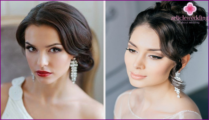 Wedding makeup for fair-skinned brunettes