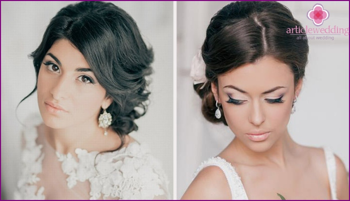 Wedding makeup for dark-skinned brunettes