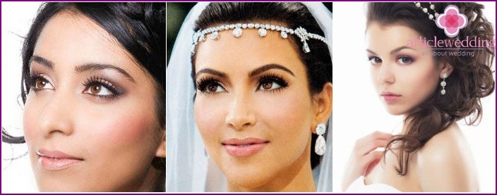 Wedding makeup: photo for brown-eyed brunettes