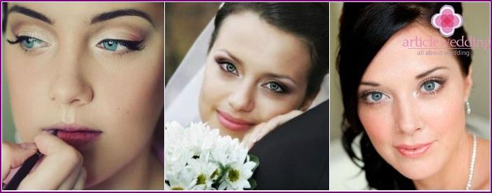 Häämeikki: kuva sinisilmäisistä brunetteista