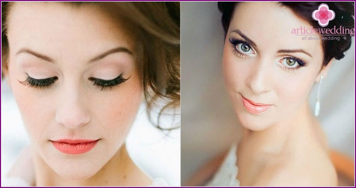 Wedding makeup: photo for green-eyed brunettes