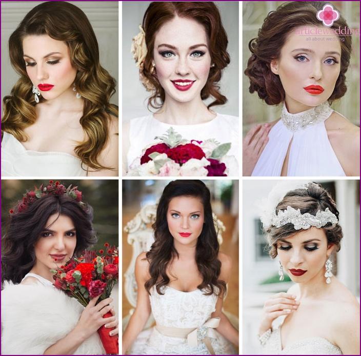 Lip focus wedding makeup