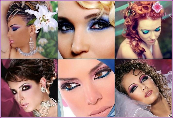 Der Erfolg von ungewöhnlichem Make-up in richtig platzierten Akzenten