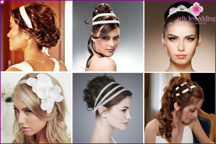 Wedding hairstyles with ribbons
