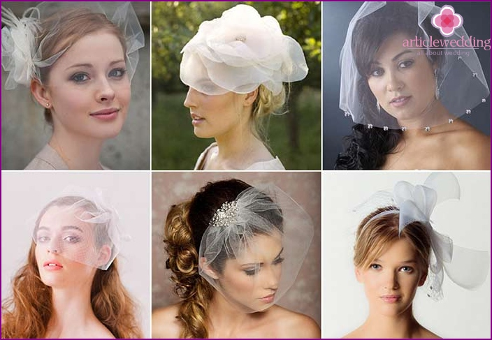 The variety of types of veils does not cease to amaze