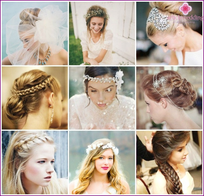Foto: Hochzeitsstyling für langes Haar