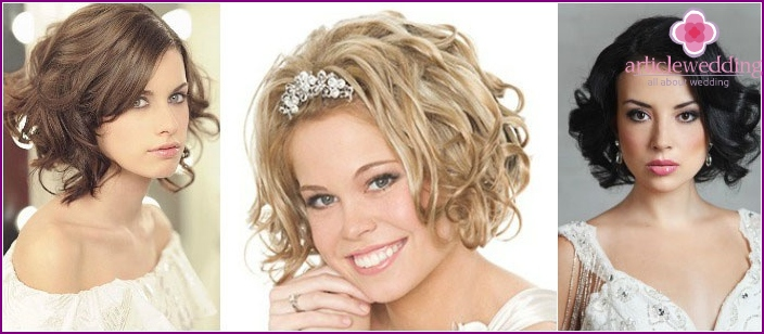 Romantic wedding styling for short-haired girls