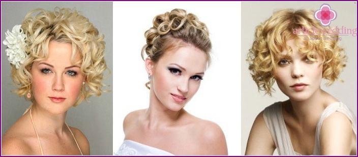 Hochzeitsfrisuren: Locken auf kurzen Haaren