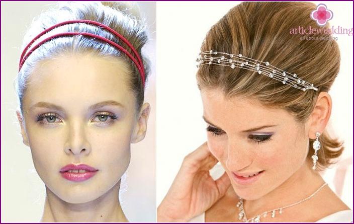 Kurzes Haar Bridal Styling: Stirnbänder