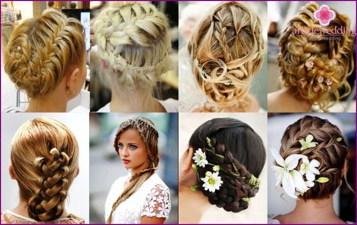 Hochzeit Zöpfe und Weben für lange Haarschnitte