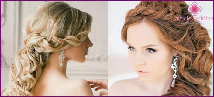 Wedding asymmetry with curls