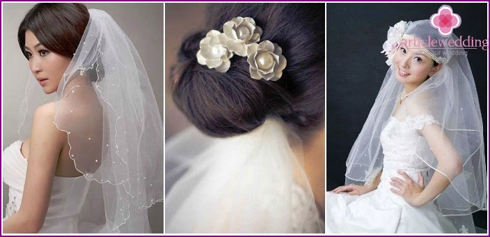 Wedding styling options with a veil