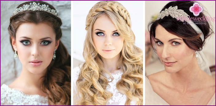 Face-shaped brides hairstyles
