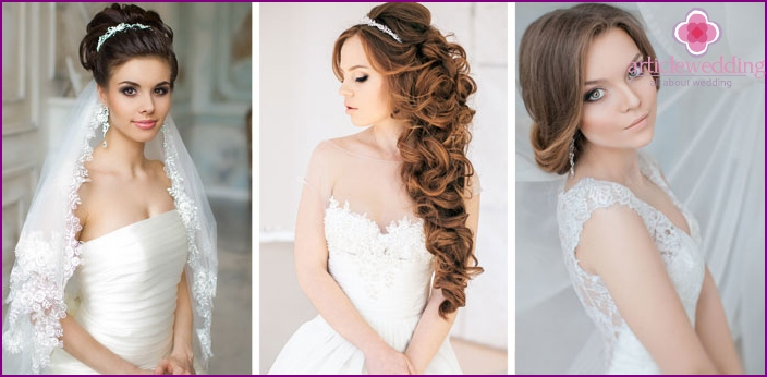 Hairstyles for a wedding dress