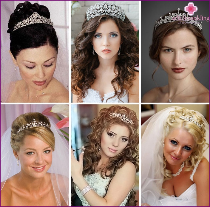 Tiaras with stones for brides