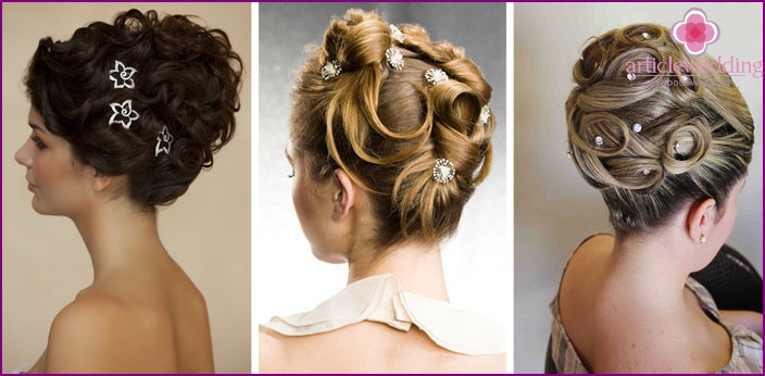 Hairpins for a wedding hairstyle